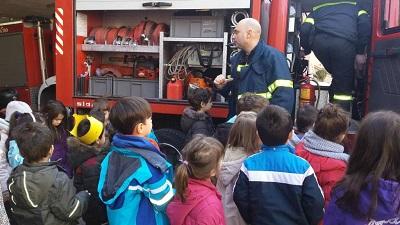 Επίσκεψη του νηπιαγωγείου στην πυροσβεστική υπηρεσία